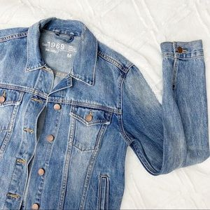 Gap Denim Jacket Women's Medium Blue Jean Coat